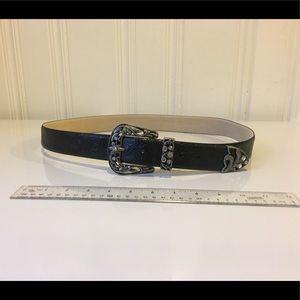 Chico's black size large belt